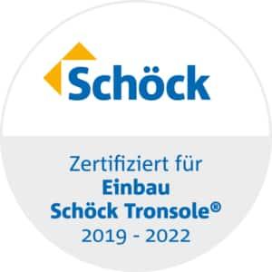 Zertifikat für den Einbau der Schöck Tronsole®